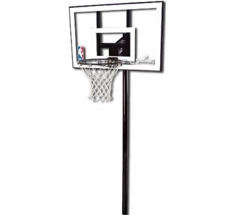 "Баскетбольная стойка Spalding Silver In-Ground - 44"" Polycarbonate 88596CN"
